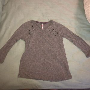 Ribbed quarter sleeve shirt